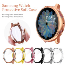 Non-tempered soft silicone full-screen protective case for Samsung Galaxy Watch Active 2 40MM 44MM for replacement accessories