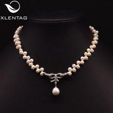 Xlentag ожерелье с бабочкой из натурального пресноводного жемчуга