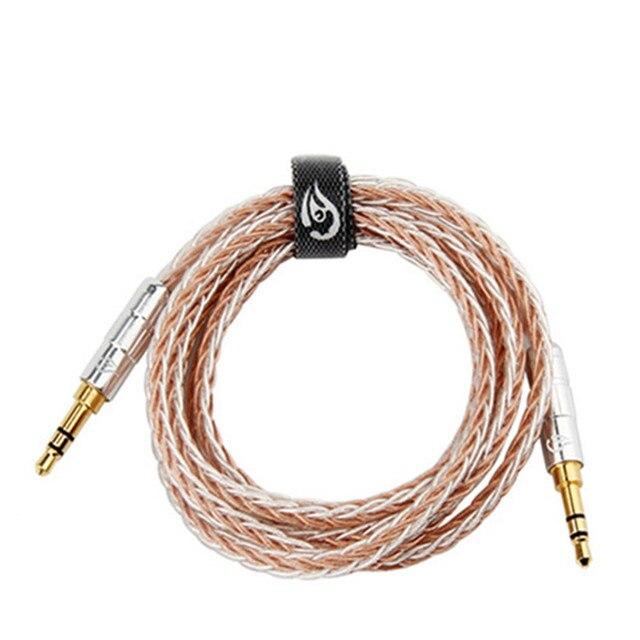 3,5mm Jack Audio Kabel Stecker auf Stecker Aux Kabel Vergoldet 3,5mm Stecker Kupfer Silber Überzogene Draht 0,5 M 1,2 M HIFI Lautsprecher Linie