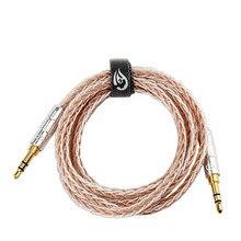 3.5mm Jack câble Audio mâle à mâle Aux câble plaqué or 3.5mm prise cuivre argent plaqué fil 0.5M 1.2M HIFI haut parleur ligne