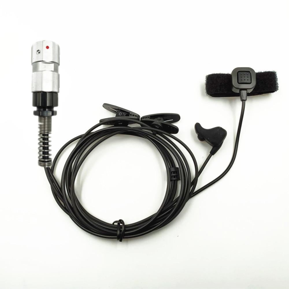 Vibrate Ear Bone Earpiece Speaker Mic 6 pin Finger PTT Headset For TRI TCA AN/PRC-148 PRC-152  Walkie Talkie headset