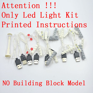 Image 2 - MTELE Brand LED Light Up Kit Toy For 10260 Down town Diner Creator City Street Lighting Set Compatile With 15037