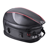 Hot New Zipper Motorcycle Tail Bag Anti slip PU Rear Sport Pack Back Seat Travel Luggage Strap Waterproof Scooter Rider