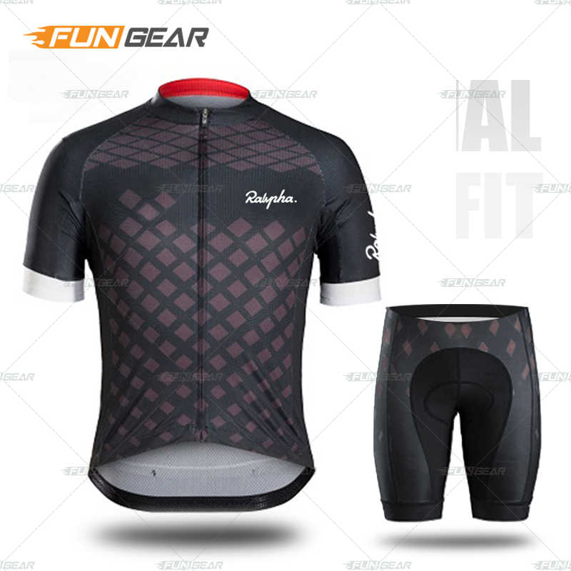 Mens Cycling Jersey Set Short Sleeve Road Bike Clothing Shirts Shorts with 3D Padded Quick-Dry