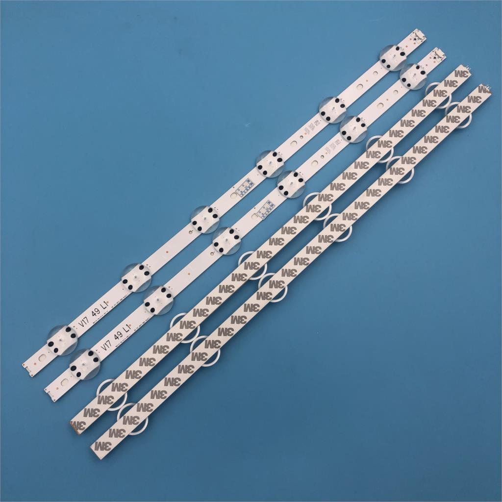 Image 4 - New Kit 4 PCS LED strip For LG 49UV340C 49UJ6565 49UJ670V V17 49 R1 L1 ART3 2862 2863 6916L 2862A 6916L 2863ALight Beads   -