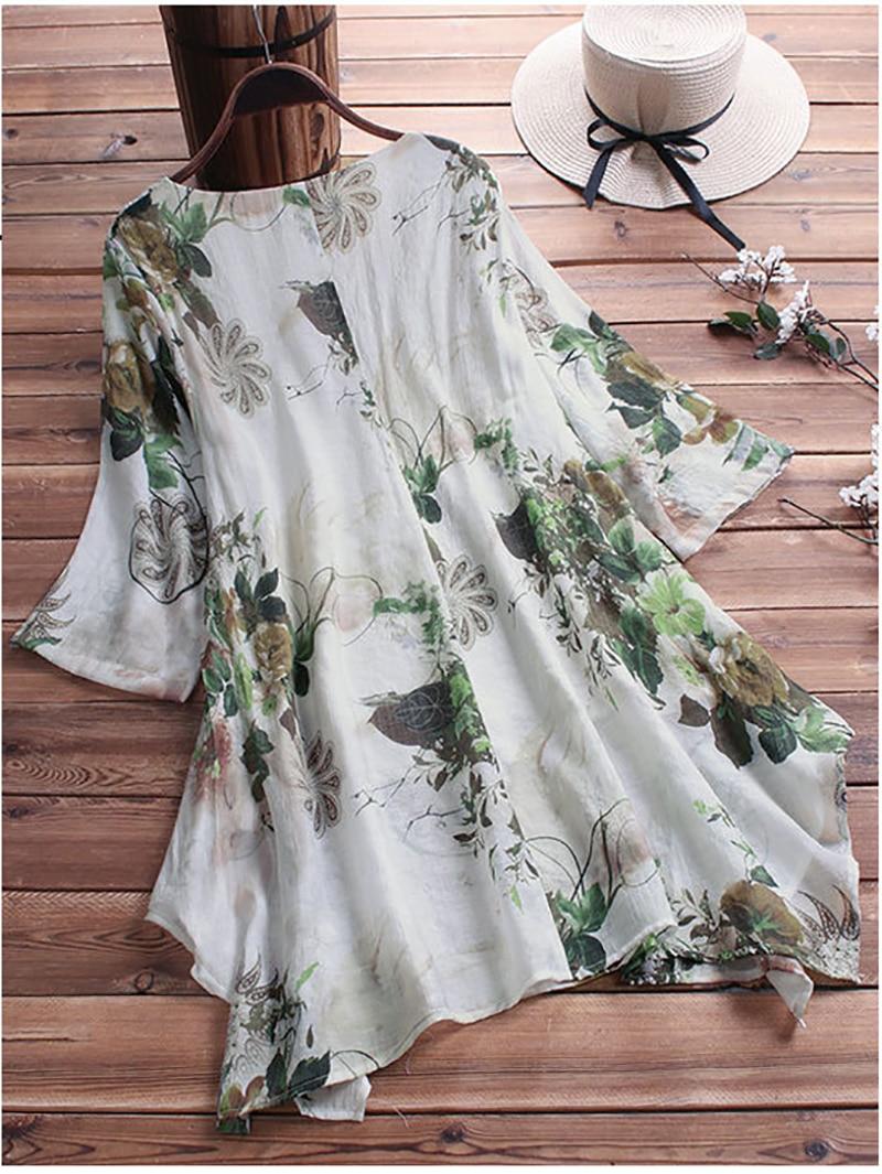 chemise blouse fleurie grande taille jusqu'au 9 XL 3