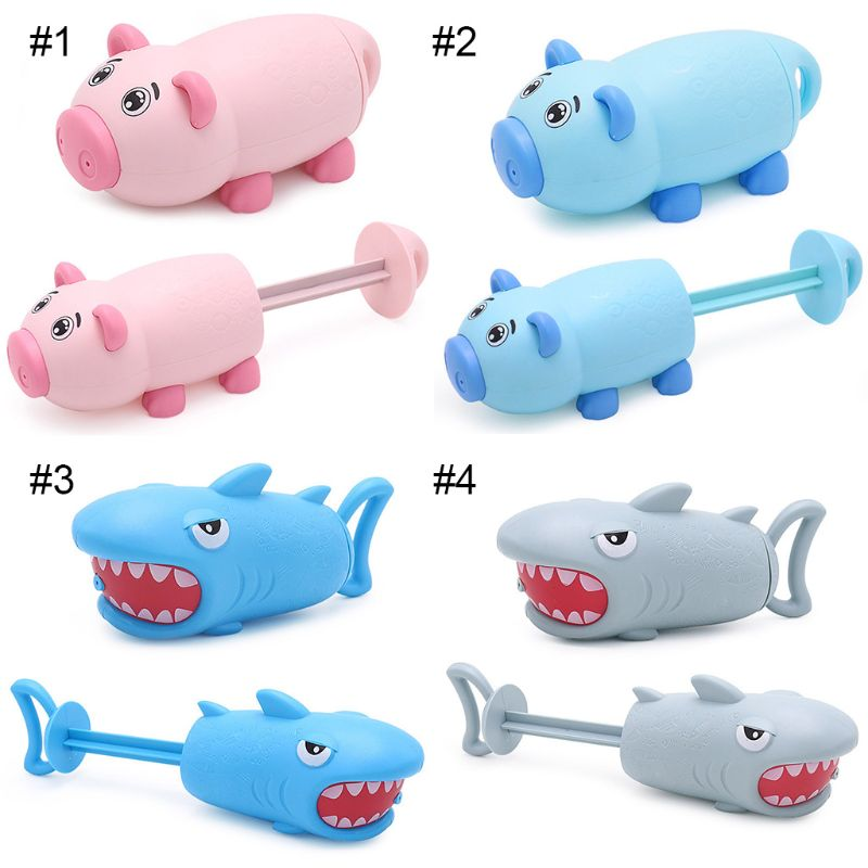 1Pc Cartoon Pig Shark Shape Mini Pump Children Beach Swimming Pool Toy Water Gun Girls Boys Gifts