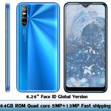 Smartphone Y8p Original, 4GB RAM, 64GB ROM, pantalla gota de agua de 6,26 pulgadas, identificación facial, desbloqueado, cámara de 5MP + 13MP, Android, WIFI