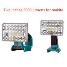 New 18V LED Flashlight Outdoors Spotlight Light for Makita BL1430 BL1830 Lithium Battery USB Outdoor Lighting with USB