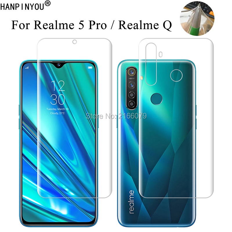 For OPPO Realme 5 Pro / Realme Q Clear TPU / Matte Anti-Fingerprints Hydrogel Full Cover Soft Screen Protector Film (Not Glass)