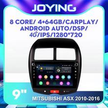 """JOYING 9 """"Android автомобильный мультимедийный радиоплеер для Mitsubishi ASX 2010 2016 GPS SPDIF DSP Carplay сабвуфер DVR 4G SIM DAB +"""