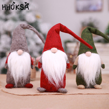 1Pc Christmas Home Decorations Cute Forest Old Man Standing Faceless Doll New Year Plush Toy Gift Give Childrens