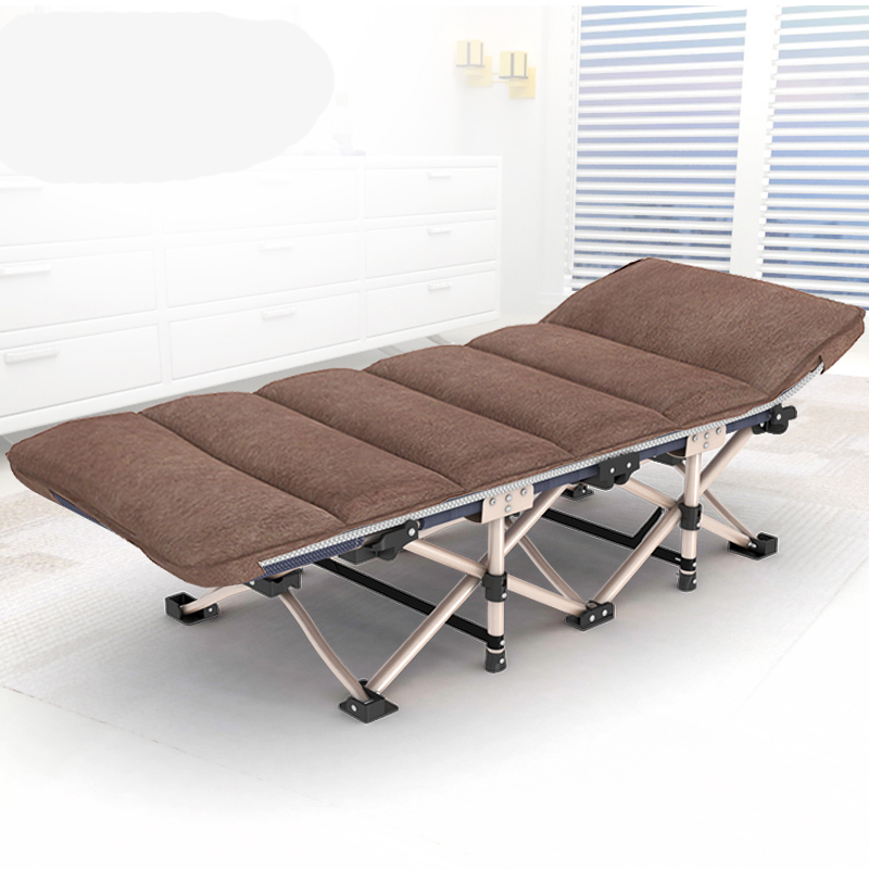 Folding Bed Office Nap Bed Recliner Single Accompanying Simple Portable Adult Camp Bed Bed Design Chair