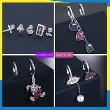 Asymmetric Earrings Brand Jewelry Love-Diamond Fashion Cute New Cartoon Character Exquisite