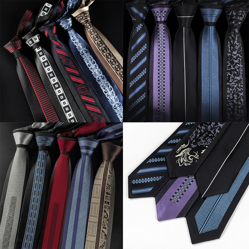 Creative Tie 6cm Unique Men  Leisure Groom Wedding Neckties Neckwear Gifts For Men Holiday Festival Banquet Mens Accessories