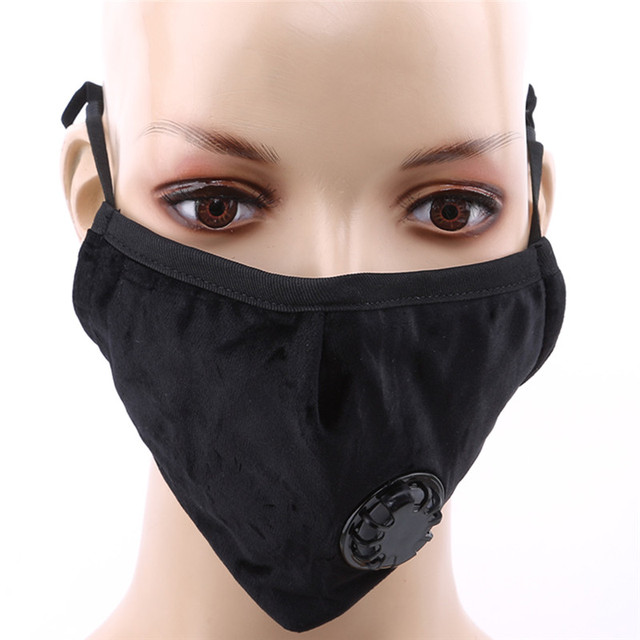 1PC Mouth Mask Anti Dust Mask Flu Face Masks Care Activated Carbon Filter Windproof Cotton PM2.5 Mouth-muffle Bacteria Proof 1