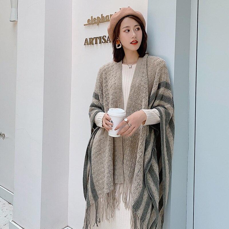 New Silk Road Traveling Scarf Female Autumn Winter Korean Version Thicken Long Warm Shawl Cape Desert Foulard Шарф Зимний