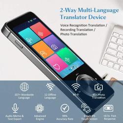 M9 tradutor de voz instantânea 107 idiomas em dois sentidos em tempo real em tempo real inteligente tradutor wifi/gravação offline/foto