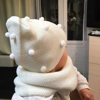 Baby Girl Boy Boy zimowa wiosna jesienna czapka dziecięca miękka ciepła czapka czapka robiona na drutach miękka elastyczna dziecięca na co dzień ciepła czapeczka akcesoria tanie i dobre opinie CN (pochodzenie) COTTON Adjustable Unisex Stałe 0-3 miesięcy Dzieci w wieku 4-6 miesięcy 7-9 miesięcy 10-12 miesięcy