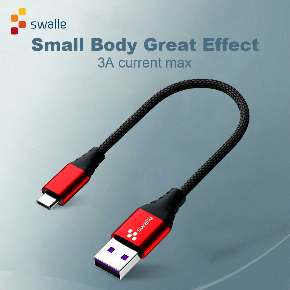 Swalle USB نوع C كابل لسامسونج S10 S9 S8 A50 Xiaomi Redmi ملاحظة 7 سريع شحن USB-C شاحن المحمول الهاتف usb C كابل