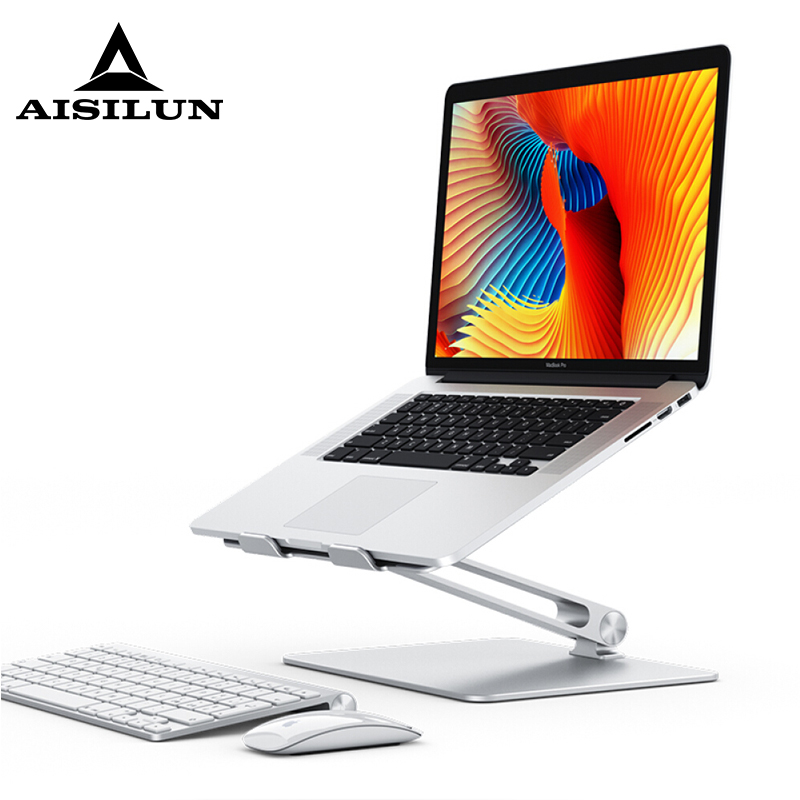 Notebook Stand Adjustable Angle Aluminum Alloy Free Lift Laptop Heighten Holder for Macbook Dell HP iPad