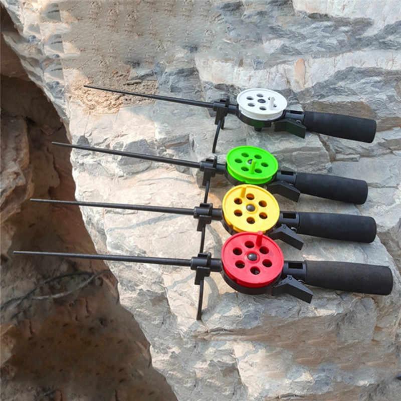 1 Pcs Duurzaam Ice Winter Hengel Met Reel Draagbare Hengels Pole Outdoor Sport Vissen Accessoires