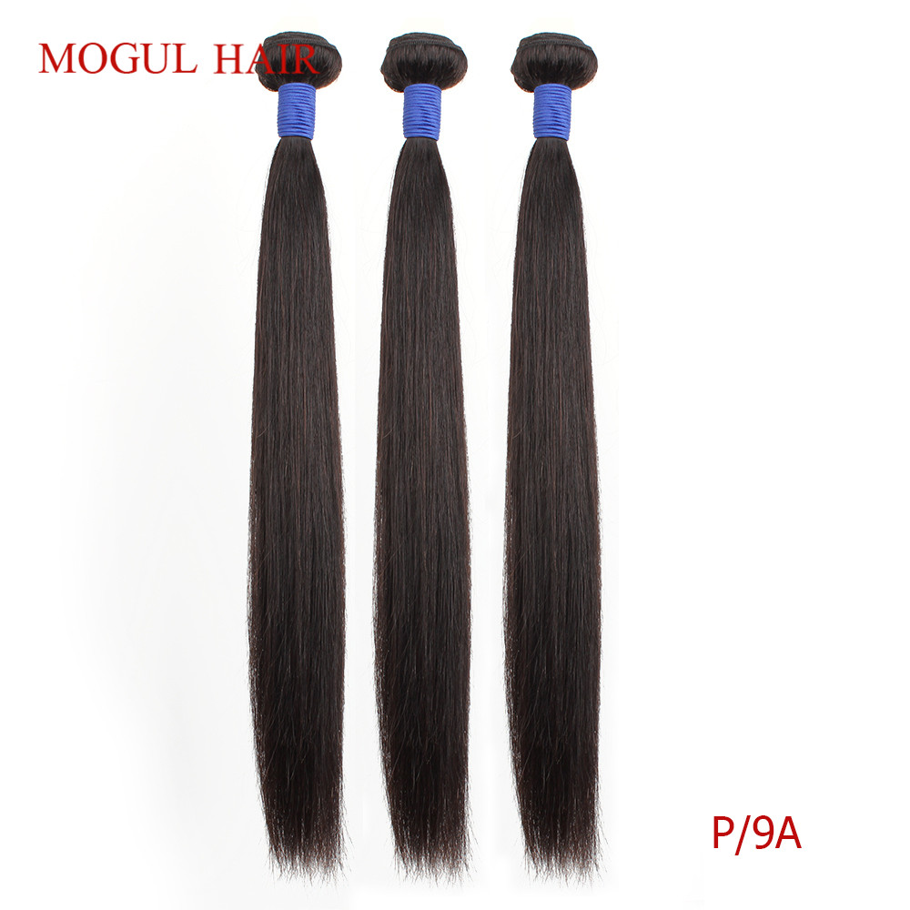 MOGUL HAIR Professional Ratio Brazilian Straight Remy Human Hair Weave Bundles Natural Color 8-28 Inch