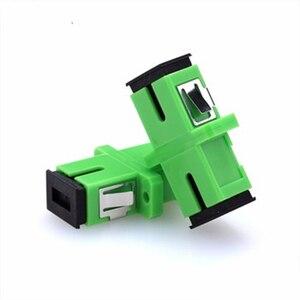 Image 3 - 100pcs SC APC Adapter SM  Optical Flange Coupler Simplex SC Optical Fiber Connector and Coupler Ftth Fiber Optic SC Adapter