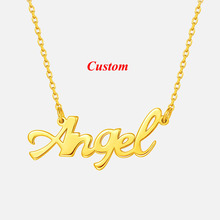 Customized Fashion Stainless Steel Name Necklace Personalized Letter Gold Choker Necklace Pendant Nameplate Custom Jewelry Gift personalized capital letter pendant choker necklace old english font inital nameplate necklace golden color customized jewelry