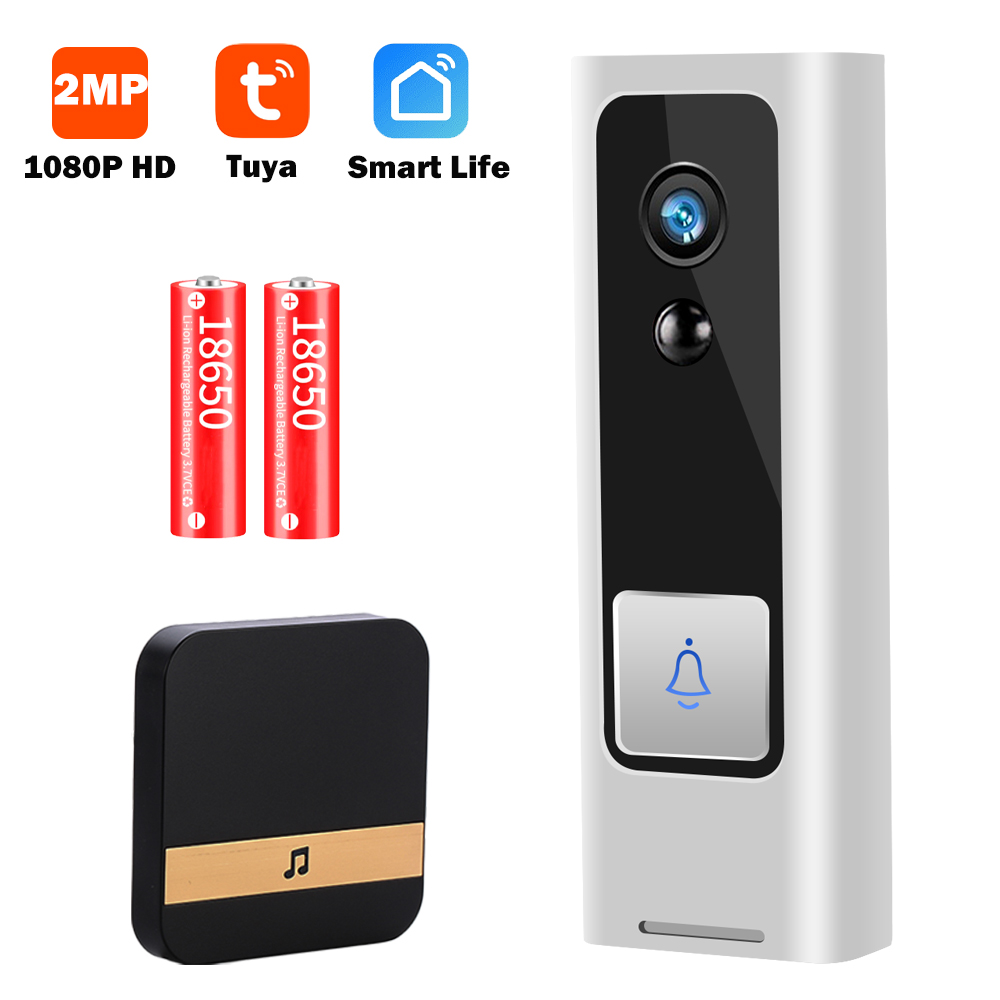 1080P HD Mini Video Doorbell Camera Video Door Bell Wireless WiFi Smart Home Video Intercom Two Way Audio Tuya Smart Life P2P|Doorbell| - AliExpress