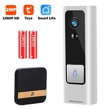 1080P HD Mini Video kapı zili kamera görüntülü kapı zili kablosuz WiFi akıllı ev Video interkom iki yönlü ses Tuya akıllı yaşam P2P