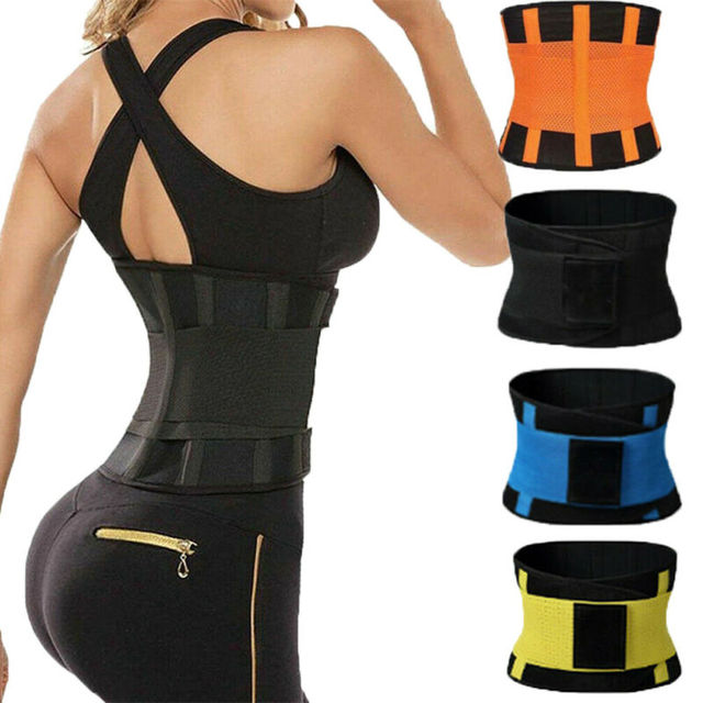 Women Sport Waist Support Trainer Shapewear Sweat Belt Waist Cincher Yoga Gym Body Building Shaper 1