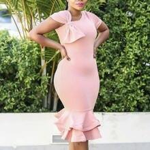 Женское розовое платье облегающее на одно плечо асимметричное