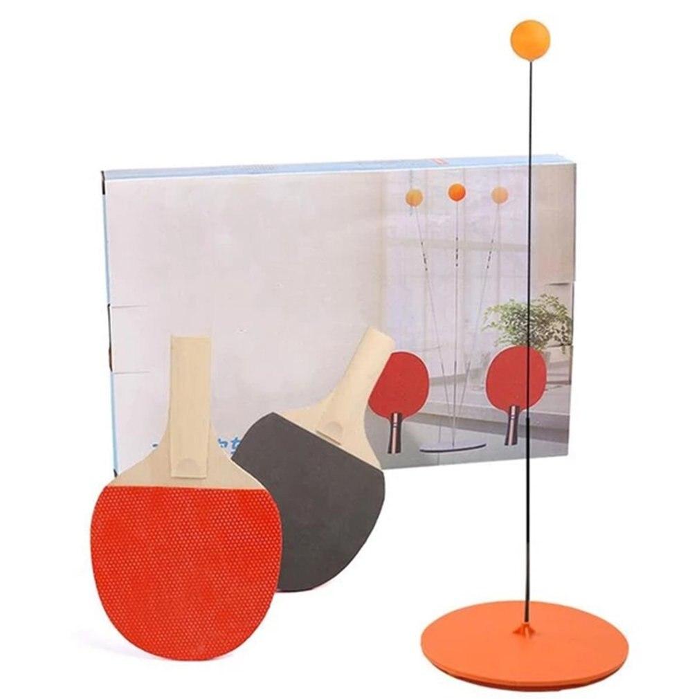 Table Tennis Trainer Children's Elastic Soft Shaft Self-Training Artifact Single Home Indoor Racket Toys