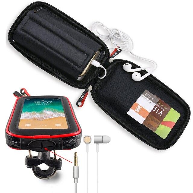 Motorrad Telefon Halter Unterstützung Moto Fahrrad Lenker Ständer Halterung Wasserdicht Roller Motorrad Telefon Tasche für Samsung