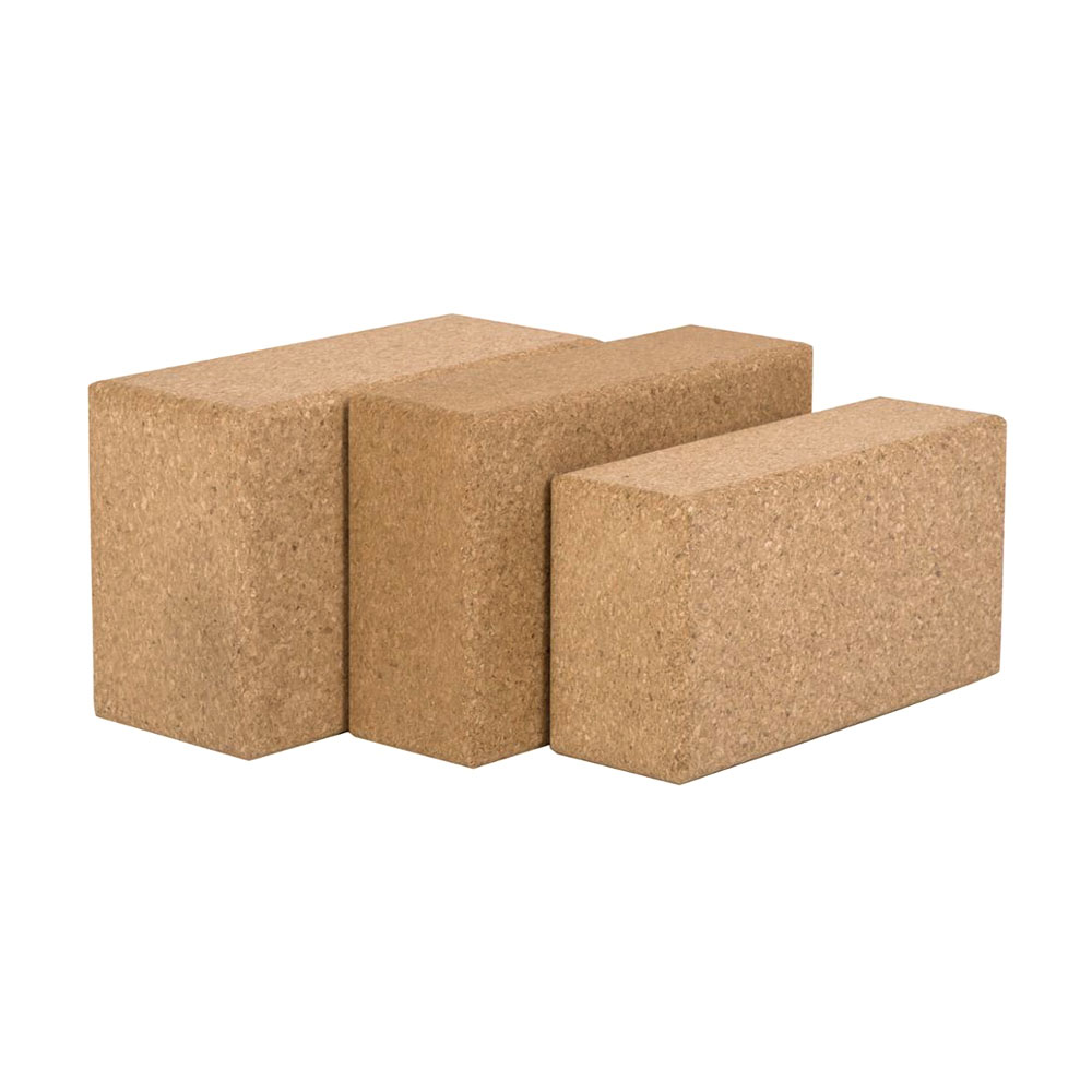 1PC 100% Cork Wood Yoga Block Brick Workout Equipment Odorless Fitness Gym Exercise Sport Tool Can Accept Logo Patter Design 4