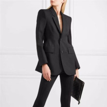 Solid Color Long Sleeve Single-breasted Waist Ladies Office Blazer Femme Simple Fashion 2019 Autumn Winter Coat New S396