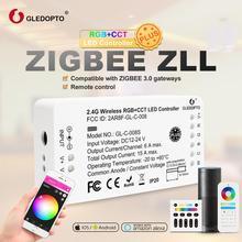 G светодиодный OPTO ZigBee RGB и цветной светодиодный контроллер полосы DC12 24V работы с Zigbee3.0 Hub SmartThings Echo Plus светодиодный голосовой контроль