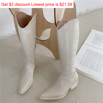 2020 New INS Women Beige High Heels Wedges Long Boots Lady Riding Cowboy Boots Winter Designer Pointed Toe Knee Thigh High Boots aiweiyi snake print winter boots for women stiletto heel high heels thigh high boots knee high boots fashion high heels boots