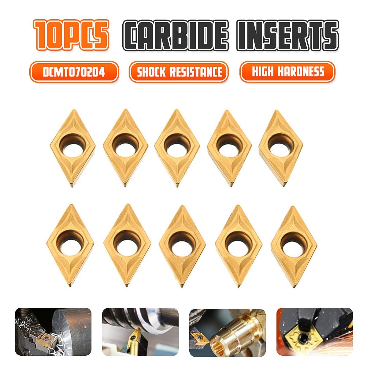 10PCS/Box DCMT070204 YBC251 Carbide Inserts For Lathe Turning Tool Boring Bar Hot Sale