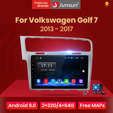 Junsun 2G+32G Android 8.1 4G Car Radio Multimedia Player For Volkswagen Golf 7 2013-2017 Navigation GPS 10.1'' Auto 2 din no dvd(China)