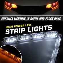 Lamps Led-Strip-Lights Indicator Water-Headlight-Corner Turn-Signal 2pcs DRL Daytime
