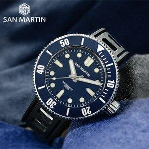 Image 2 - San Martin Professional ดำน้ำผู้ชายนาฬิกา Luminous 1000 M กันน้ำ Sapphire คริสตัลเซรามิค BEZEL