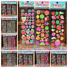 10 Sheets/lot  Various styles of 3D stickers baby DIY birthday gift baby room decoration items LYQ