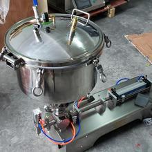 Высокая вязкость машина для наполнения пасты арахисовое масло кремовый наполнитель использовать компрессионный воздушный давление бункер