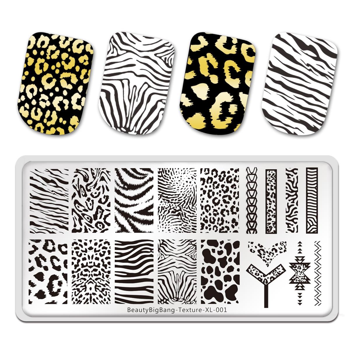Трафареты BeautyBigBang из нержавеющей стали с изображением тигра, зебры, леопарда, животных