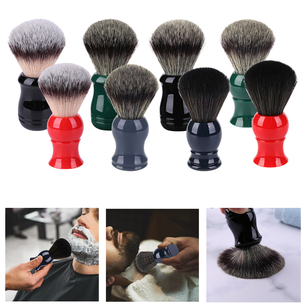 Professional Men Shaving Brush Beard Hair Cleaning Razor Shaving Beard Brush Massage Mustache Comb Soft Hair Beard Care