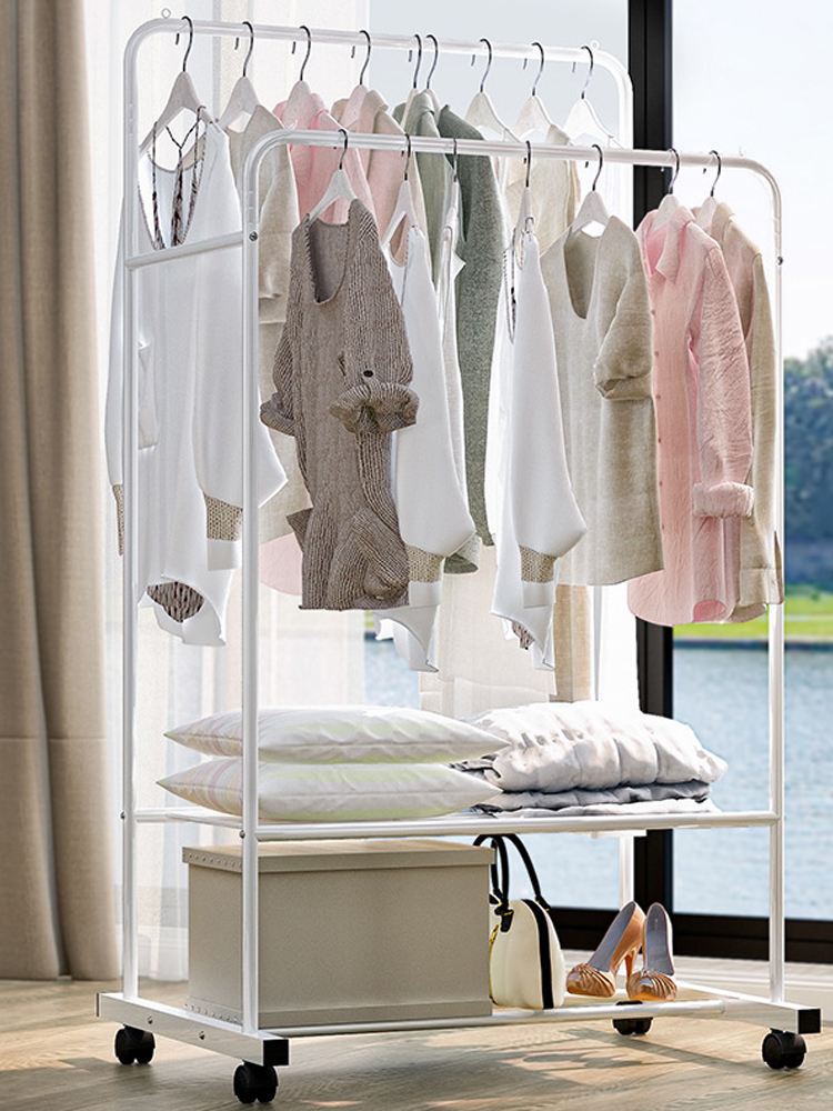 Hanger Coat-Rack Clothing Wardrobe Porte Drying-Racks Manteau COSTWAY Kledingrek Storage
