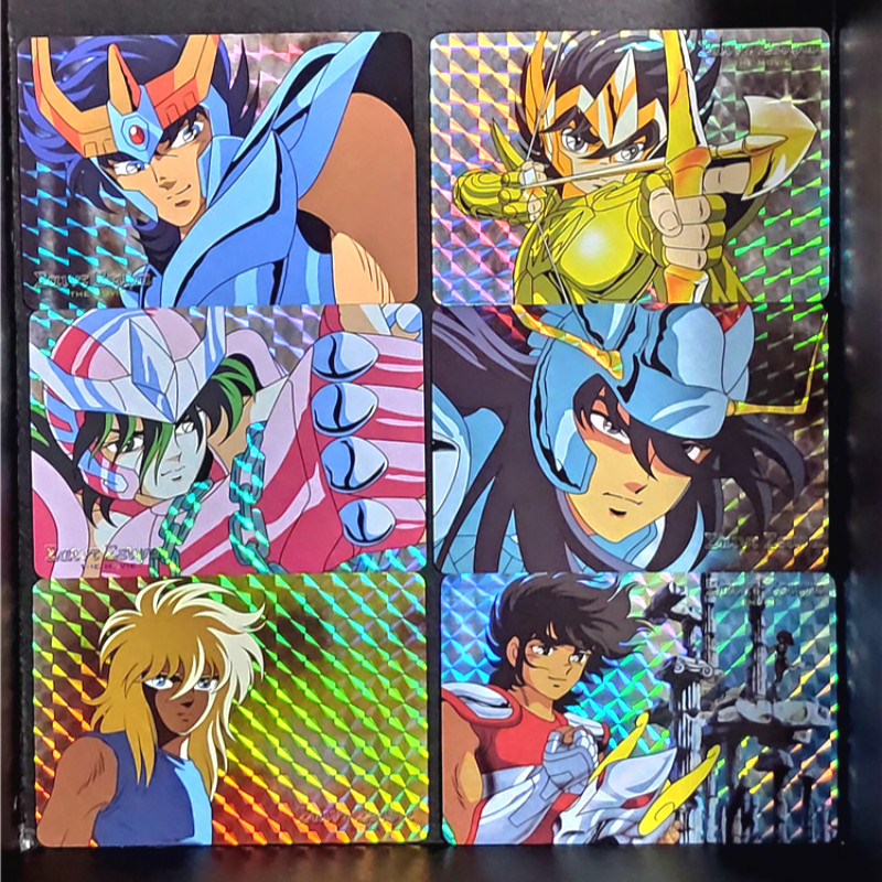 6pcs/set Saint Seiya Repaint Homemade Toys Hobbies Hobby Collectibles Game Collection Anime Cards