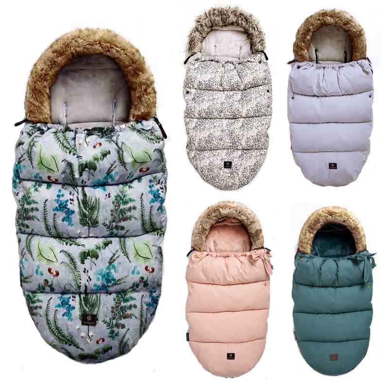 Baby Stroller Sleeping Bag Infant Winter stroller footmuff thick Warm Wheelchair Envelope For Newborns Winter Warm